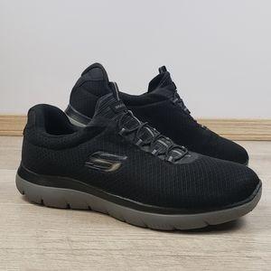 Mens Skechers 52811W Summits Black Slip on Sneaker
